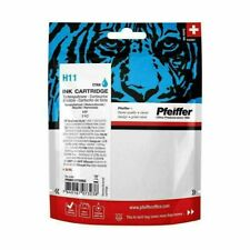 Pfeiffer Ink Cartridge, compatible with HP 11 Cyan (reman). PFIH011CR