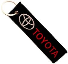 TOYOTA CAR RED GREY LOGO Embroidered Stitched Metal Keyring Keychain Automobile