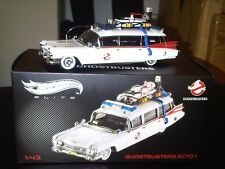 Hot Wheels Elite Ghostbusters I Ecto 1 scala scale 1:43 NUOVO NEW RARE RARO