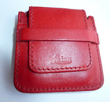Genuine Leica Leather Case Red Vintage