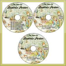 Collection of 19 Beatrix Potter Peter Rabbit Audio Books stories on 3 Audio CD