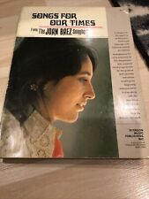 1967 Joan Baez Songbook Songs For Our Times