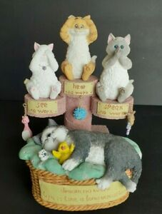 San Francisco Music Box Angus & Friends Three Evils Cats 287/1000