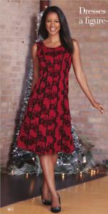 Size 18W PLUS Monroe & Main Red Black Formal Party Dinner Wedding Sherri Dress