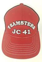 Teamsters Local JC 41 Mesh Baseball Cap Hat Adjustable Hook Loop Fastener Strap