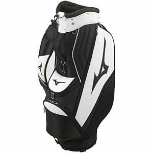 MIZUNO Caddy Bag Golf equipment Men's Size 9.5 type White x black Sports