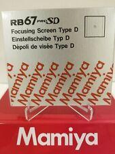 Mamiya RB 67 PRO SD / PRO S TYPE D (CROSS HAIR)  FOCUSING SCREEN