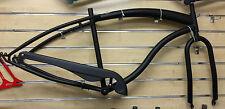 """26"""" x 4.0 Fat Tire  Beach Slugo Cruiser Frame fork BB & Chain Guard matte black"""