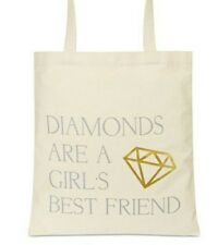 Macys Diamonds are a girls best friend Canvas Shopping Tote- New