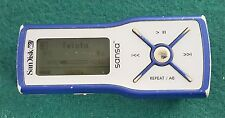 RARE Sansa M230 512MB Blue Backlit LCD MP3 Player Uses Single AAA Battery WORKS