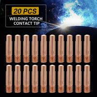 20Pcs Copper Contact Tips for Binzel 15AK MB MIG / MAG Welding Torch 0.8/1.0mm