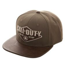 Officiel Call of Duty: la seconde guerre mondiale (2) Push for Victory vert/kaki Casquette Réglable (NEUF)