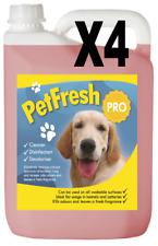 4X 5 L Rosa Pompelmo Pet canile DISINFETTANTE Deodoriser PULITORE odore fresco cane