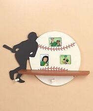 Baseball Sport Display Shelf With Photo Frames Kids Teens Decor