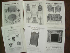 JOB LOT OF 6 VINTAGE 100 YEAR OLD ADVERTS FOR LONDON ANTIQUE SHOPS LOT 10