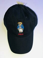 Polo Ralph Lauren Winter ski Bear Limited edition Men's Chino Hat Cap Black NEW