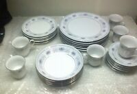30 Piece Serving for 6 Crown Ming Jian Shiang Harmony Fine China Dinnerware