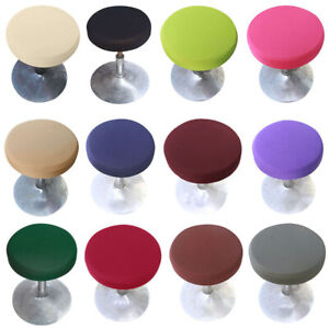 Home Kitchen Stool Slipcovers Round Bar Stool Cover Seat Cushion Proctector