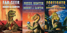 QUINTAGLIO TRILOGY (all 3 books) Robert J Sawyer signed -- intelligent dinosaurs