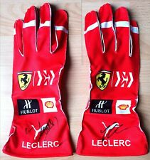 Charles Leclerc F1, Scuderia Ferrari F1 personally signed replica racing gloves
