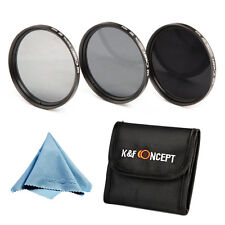 K&F Concept 72mm ND2 ND4 ND8 Lens Filter Cloth for Canon 50D 40D 28-135 18-200