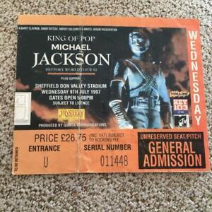 Michael Jackson ticket Sheffield 09/07/97 History tour  #011448