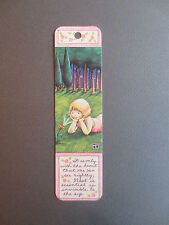 Bookmark MARY ENGELBREIT INK It is only with the heart ANTIOCH Little Girl