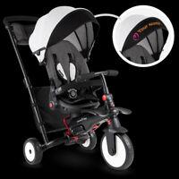 SmarTrike STR7 Vibe 7 in 1 Compact Folding Lightweight Baby Stroller Trike Grey