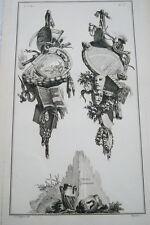 EAU FORTE JEAN CHARLES DELAFOSSE-VOYSARD CAPRICE CONTRARIETE-TROPHEES 1772
