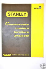 STANLEY CONSERVATIVE MODERN FURNITURE PROJECT PLAN SET CM3 #RR223 woodworking