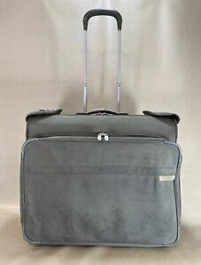 BRIGGS & RILEY U376-7 Deluxe Wheeled Rolling Garment Bag Olive Baseline
