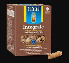 Pasta Fusilli giganti Integrali n234 DE CECCO 1KG