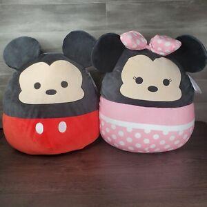 "Squishmallows 20"" Disney Mickey Mouse & Minnie Mouse Plush Super Soft XL Plush"