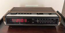 Vintage General Electric AM-FM Alarm Clock Radio Model 7-4630D RED LED