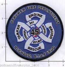Iraq - Baghdad Stryker Fire Rescue Dept Patch BIAP  343 9-11 v2  est 8/05