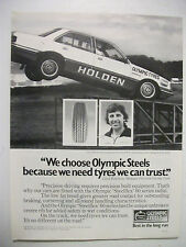 1980 HOLDEN PRECISION DRIVING TEAM OLYMPIC TYRES FULLPAGE MAGAZINE ADVERTISEMENT