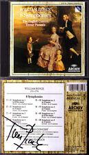 Trevor PINNOCK Signiert William BOYCE 1711-1779 Symphony 1-8 Archiv CD Sinfonien