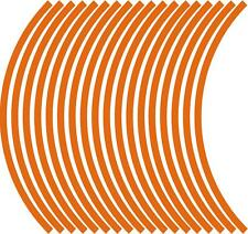 9mm wheel rim tape striping stripes stickers ORANGE..(38 pieces/9 per wheel)