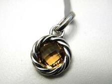 David Yurman Cable with Center Stone Enhancer Citrine Charm Pendant NWT