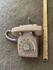 Vintage Bell System Western Electric Rotary Dial Desk Phone Beige 1982