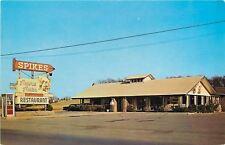 Maryville TN~Spikes' Simple Simon Restaurant~Neon Arrow~Telephone Booth~1950s