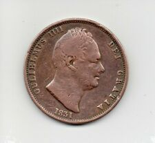 More details for 1831 william iv half penny, copper halfpenny coin