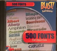 HIGH IMPACT FONTS 500 FONTS (CD-ROM WINDOWS)