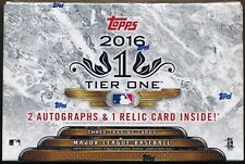 2016 Topps Tier One Baseball 1bx Index Card Break#5 - Boston Red Sox