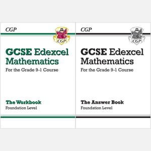 GCSE Maths Edexcel Workbook: Foundation Grade 9-1 Course and Answer CGP