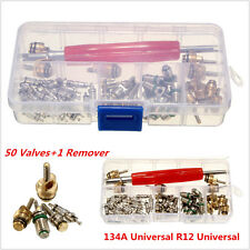 50x Auto Car A/C Core Valves R12/R134A Air Conditioning Assortment & Remover Kit