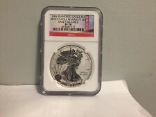 2012 S Reverse Proof American Silver Eagle Dollar ER San Francisco NGC PF70