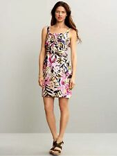 BANANA REPUBLIC WOMEN'S  100% SILK FLORAL KNOTTED DRESS SOLDOUT ORG 150 S/851096