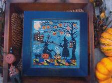 Halloween Witch's Night Out Lila's Studio Primitive Cross Stitch Pattern