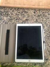 """Apple iPad Pro 1st Gen 128GB, Wi-Fi+4G (Unlocked), 12.9"""" Gold w/ Apple Pencil"""